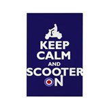 Keep Calm Scooter On (2) Rectangle Magnet (100 pac