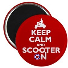 "Keep Calm Scooter On (2) 2.25"" Magnet (10 pack)"