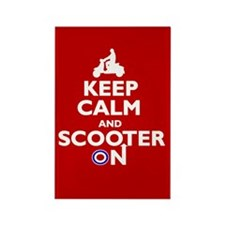 Keep Calm Scooter On (2) Rectangle Magnet