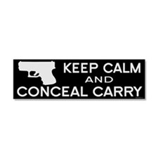 Keep Calm and Conceal Carry Car Magnet 10 x 3