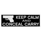 Keep Calm and Conceal Carry Bumper Sticker