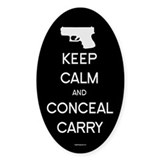 Keep Calm and Conceal Carry Decal