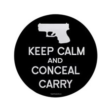 "Keep Calm and Conceal Carry 3.5"" Button (10 pack)"