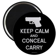 "Keep Calm and Conceal Carry 2.25"" Magnet (100 pack"