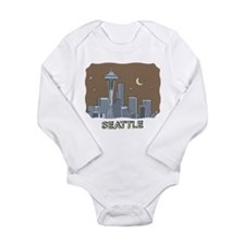 Unique Seattle Long Sleeve Infant Bodysuit