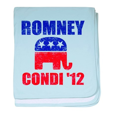 Romney Condi 2012 baby blanket
