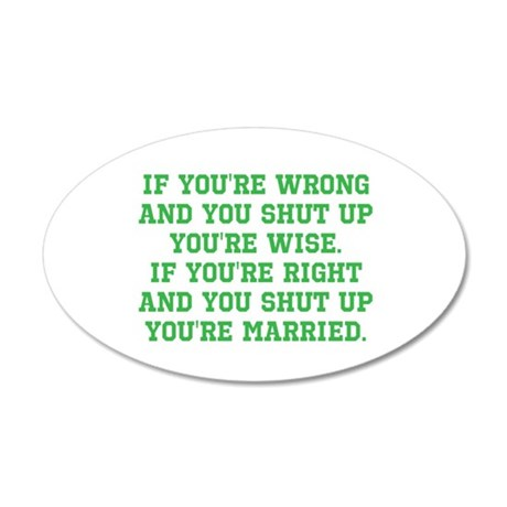 Wise vs Married 20x12 Oval Wall Decal