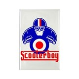 Scooter Boy race Rectangle Magnet (10 pack)
