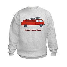 Personalized Fire Truck Sweatshirt