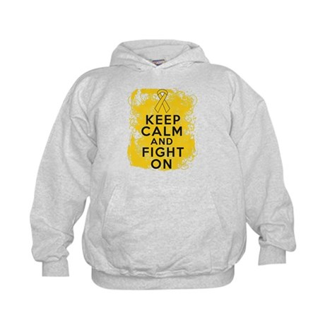 Childhood Cancer Keep Calm Fight On Kids Hoodie