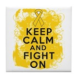 Childhood Cancer Keep Calm Fight On Tile Coaster