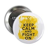 "Childhood Cancer Keep Calm Fight On 2.25"" Button ("