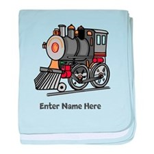 Personalized Train Engine baby blanket
