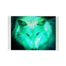 wolf glow Rectangle Magnet (100 pack)