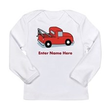 Personalized Tow Truck Long Sleeve Infant T-Shirt