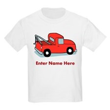Personalized Tow Truck Kids Light T-Shirt