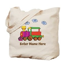 Personalized Train Engine Tote Bag