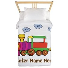 Personalized Train Engine Twin Duvet