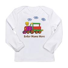 Personalized Train Engine Long Sleeve Infant T-Shi