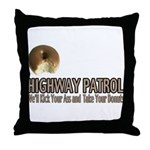 Highway Patrol Kick Ass! Throw Pillow