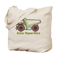 Personalized Dump Truck Tote Bag