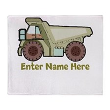 Personalized Dump Truck Throw Blanket