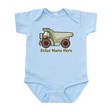 Personalized Dump Truck Infant Bodysuit