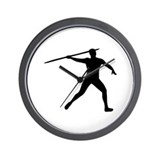 Javelin thrower Wall Clock