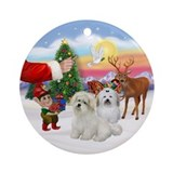 Treat for two Coton de Tulears Ornament (Round)