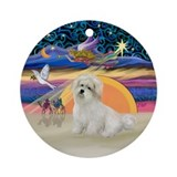 Xmas Angel-Coton de Tulear Ornament (Round)