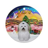 XmasMusic2 - Coton de Tulear Ornament (Round)