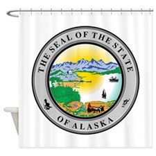 Alaska State Seal Shower Curtain