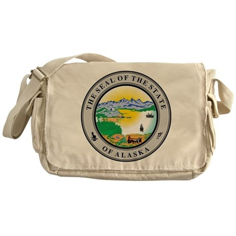Alaska State Seal Messenger Bag