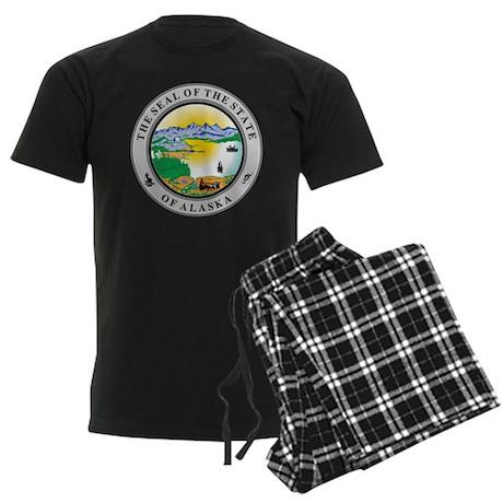 Alaska State Seal Men's Dark Pajamas