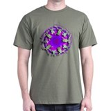 Psychadelic White's Tree Frog Black T-Shirt