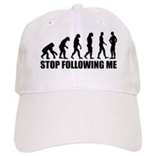 Stop following me evolution Baseball Cap