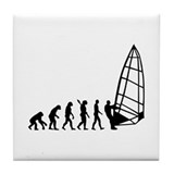 Windsurfing evolution Tile Coaster