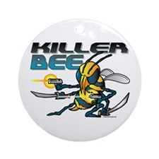 Killer Bee @ eShirtLabs.Com Ornament (Round)