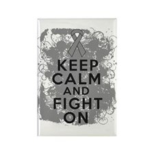 Brain Tumor Keep Calm Fight On Rectangle Magnet (1