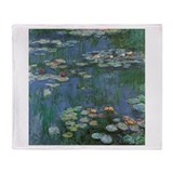 Claude Monet Water Lilies Throw Blanket