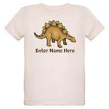Personalized Stegosaurus Organic Kids T-Shirt