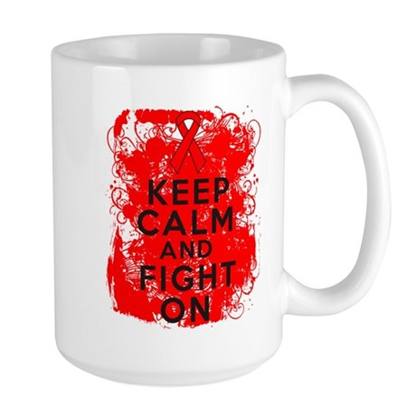 Blood Cancer Keep Calm Fight On Large Mug