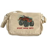 Personalized Monster Truck Messenger Bag