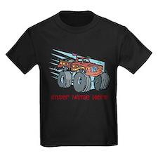 Personalized Monster Truck Kids Dark T-Shirt