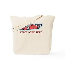 Personalized Racecar Tote Bag