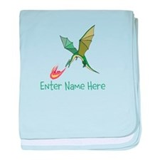 Personalized Dragon baby blanket