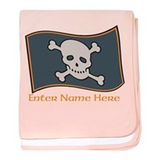 Personalized Pirate Flag baby blanket