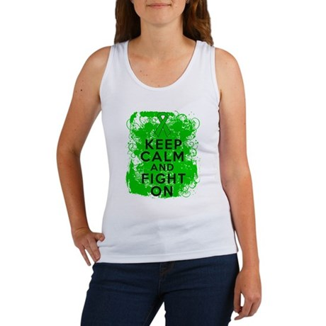 Bile Duct Cancer Keep Calm Fight On Women's Tank T