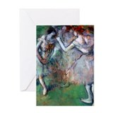 Degas - Group of Dancers Greeting Card
