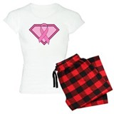 Superhero Shield Pink Ribbon pajamas